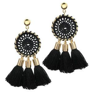 Boho Woven Tassel Earrings